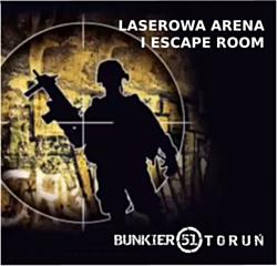 BUNKIER51 Arena z laserowym paintballem i escape room